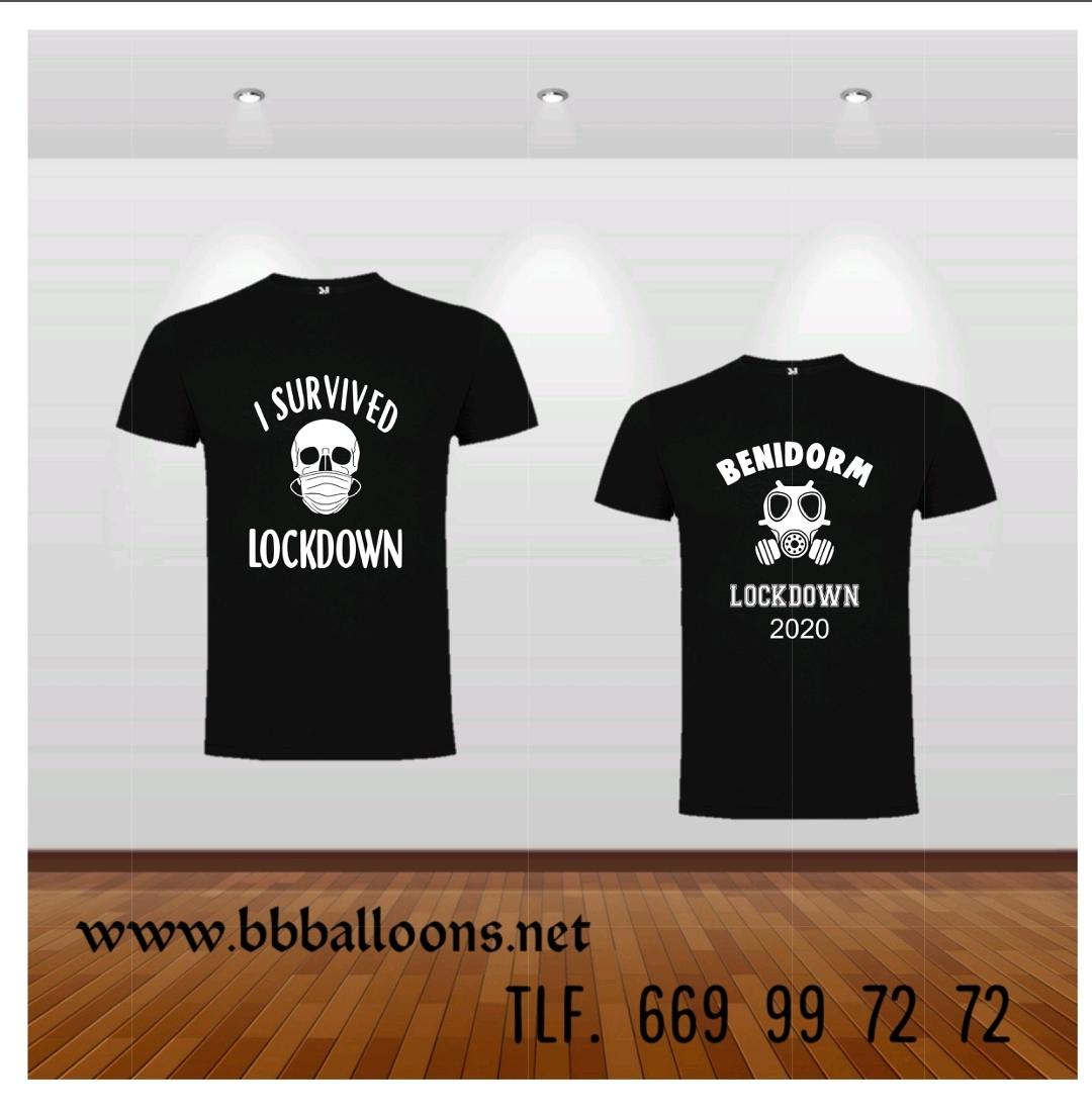 corona virus t shirt benidorm